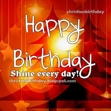 happy birthday let your light shine christian card christian