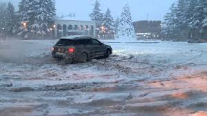 blue subaru outback 2007 2007 subaru outback 2 5i snow drift youtube