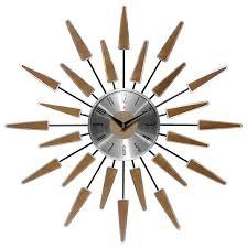 Wall Clocks Satellite 23 Mid Century Modern Vintage Wall Clock Midcentury