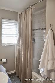 Curtain Hanging Hardware Decorating Bathroom Curved Shower Curtain Rod In Olive With White Curtain