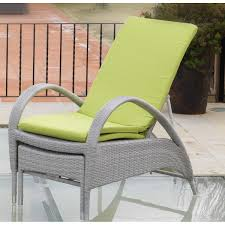chaise longue ext rieur chaise longue en aluminium et résine grise spécial extérieur