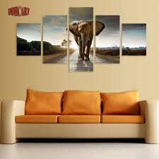 compare prices on elephant painting pictures online shopping buy 5 piece canvas art wall art prints painting elephant picture canvas home decor poster modern artwork