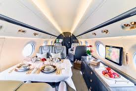 gulfstream g550 large and cosy world class business jet with