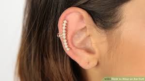 how do you wear ear cuffs how to wear an ear cuff 15 steps with pictures wikihow