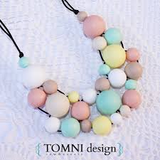 silicone necklace images Pastels colours statement necklace ready made fashionable jpg
