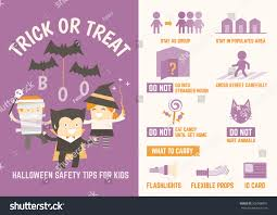 halloween safety tips trick treat halloween safety tips infographic stock vector