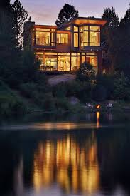 oregon house this new contemporary home sits next to a river in oregon