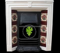 elegant edwardian tiled fireplace with original tiles