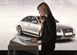 audi showroom audi city berlin germany u0027s first virtual showroom opens its doors