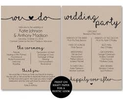 programs for a wedding ceremony program template printable wedding programs ceremony