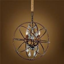 Vintage Crystal Chandeliers Country Style 5 6 Head Antique Iron Chandelier 110v 220v Bulb E27
