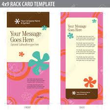 4x9 rack card brochure template includes cropmarks bleeds