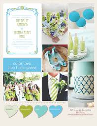 unique wedding colors unique wedding themes that work with blue and lime green