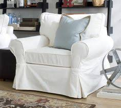 Pottery Barn Armchair Pb Comfort Roll Slipcovered Box Edge Cushion Armchair Potterybarn