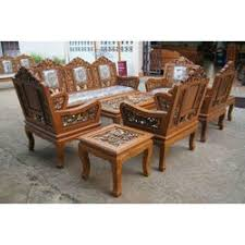 Teak Wood Sofa Set At Rs  Set Dharskar Road Itwari - Teak wood sofa set designs