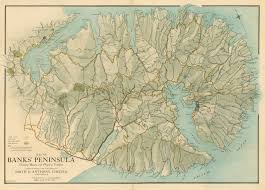Map Of Europe Physical Features by Map Of Banks Peninsula Showing Roads And Physical Features