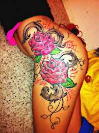 tattoos flowers buttocks tatto