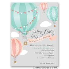 up up u0026 away petite baby shower invitation invitations by dawn