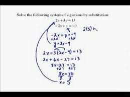 a17 5 solving systems of equations by substitution youtube