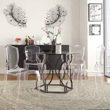 Glass Dinner Table Glass Dining Room U0026 Kitchen Tables Shop The Best Deals For Dec