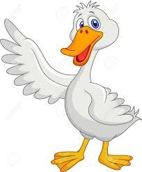 cute duck cartoon waving royalty free cliparts vectors and stock