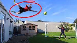Challenge W2s Jumping My Roof Football Challenge