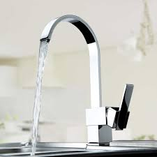 single handle kitchen vessel sink faucet tall curve with swivel