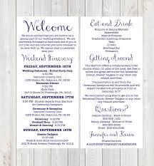 wedding itinerary weekend itinerary wedding welcome welcome