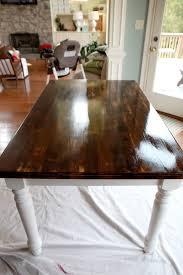 Simple White Dining Room Honeysuckle Life Tip Top Table Dining Table Makeover Diy Dining Table And Sandpaper