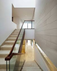 attractive staircase railing interior design with brown iron ideas