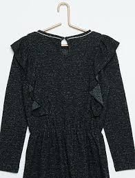 marl knit frilly jumper dress girls age 4 to 12 years kiabi 9