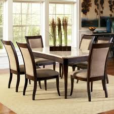 marble dining room set steve silver marseille 7 rectangular marble table and