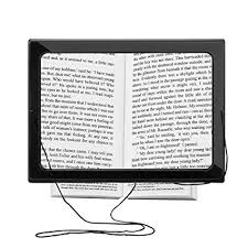 hands free lighted magnifier amazon com foldable led lighted reading magnifier oenbopo hands