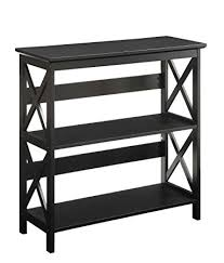 amazon com convenience concepts oxford 3 tier bookcase black