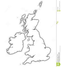 Great Britain On World Map by Great Britain Map With Shadow Stock Photos Image 3844593