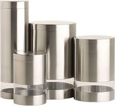 cool kitchen canisters stainless acrylic canisters gearculture
