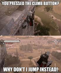 Ezio Memes - assassin s creed this also happens in spiderman where he randomly