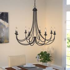 Candle Lit Chandelier Three Posts Buckland 8 Light Candle Style Chandelier Reviews