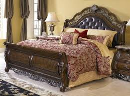 Oak Sleigh Bed King Size Sleigh Bed Ashley Furniture King Size Sleigh Bed