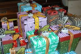 nightmare before christmas wrapping paper with nightmare before christmas presents