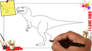 how to draw a dinosaur easy u0026 simple step by step for kids