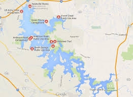 nashville on map map percy priest lake