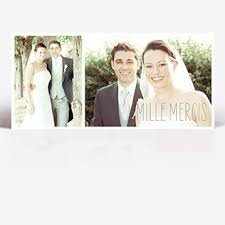 remerciement mariage photo carte de remerciement mariage à personnaliser faireparterie