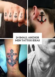 24 small anchor tattoo ideas for men styleoholic