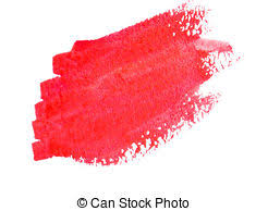 red paint red paint stroke red acrylic paint stroke isolated on white