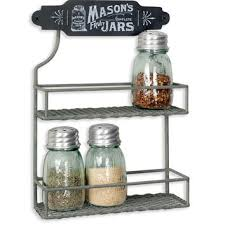 Wall Mount Spice Rack With Jars Best Wall Spice Racks Products On Wanelo