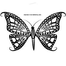 tribal style butterfly at vectorportal