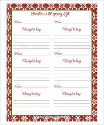 gift shopping list free christmas shopping list pdf 24 christmas wish