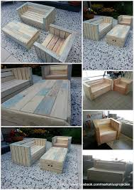 Build Wooden Patio Furniture by Outdoor Furniture Made With Pallets Pallets Round Patio Table