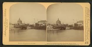 Chicago World S Fair 1893 Map file distant view of wooded island bridge world u0027s fair chicago